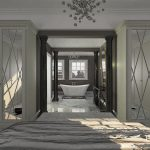 bespoke, fitted, luxury, wardrobe, panneled door, Harrow design, Oxford mirrorred door, Oxfordshire-UK, London